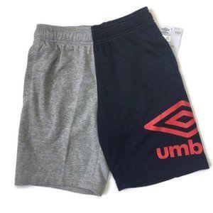 Umbro Blue & Gray Half and Half Shorts Boys S 6/7